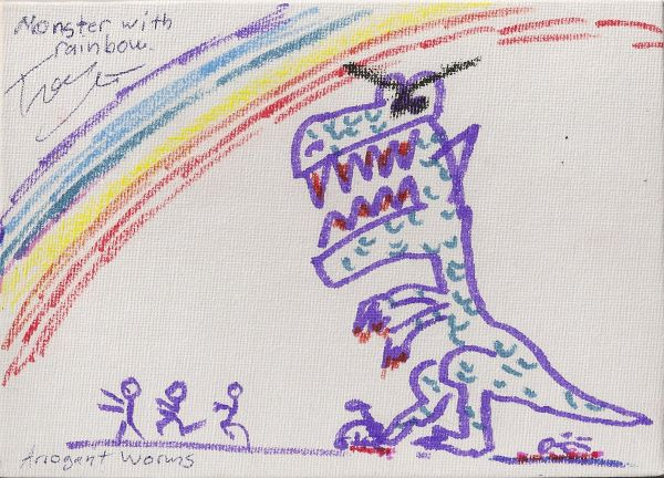 Monster With Rainbow